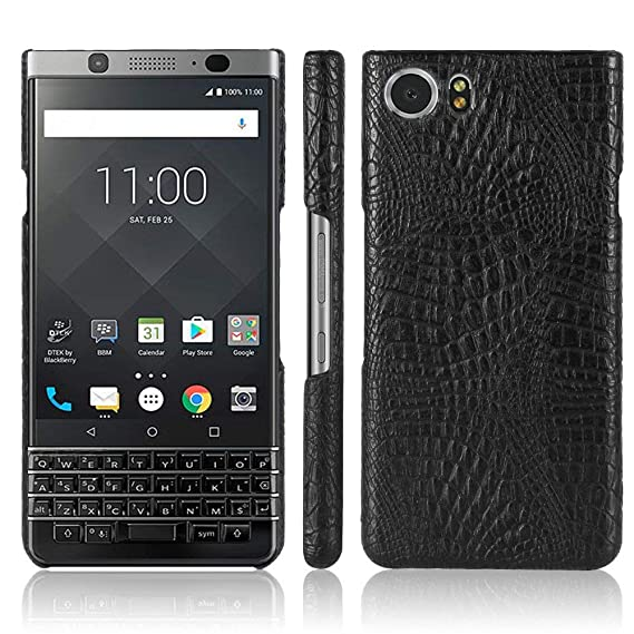 timeless design 07140 7d502 BlackBerry Keyone Case,Croco Premium PU Leather Protective Cases Simple  Deurable and Lightweight Case for BlackBerry Keyone (black)