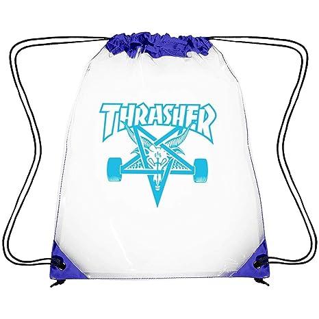 d0a5ffbee6c5 Amazon.com : uter ewjrt Waterproof Thrasher-Logo- Clear Plastic Bags ...