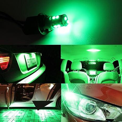 Amazon.com: TABEN 10pcs T10 LED Green Car Light Bulbs 10-SMD ...