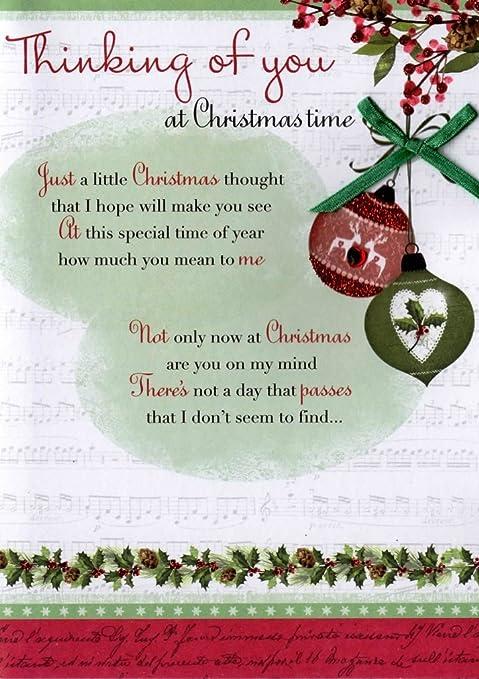 Amazon.com: Thinking Of You en Navidad Tiempo tarjeta de ...