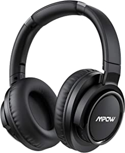 Mpow H18 Active Noise Cancelling Headphones, Foldable Bluetooth Headphones with Microphone, Over Ear Headphones with Hi-Fi Deep Bass, 50 Hours Play Wireless Headset for Travel/Work/Cell Phone