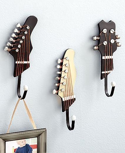 Ganchos decorativos en forma de guitarra vintage para colgar ropa ...