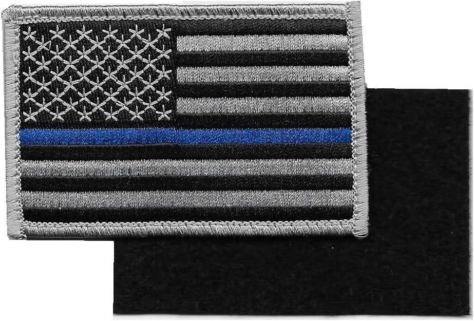 Bandera de Estados Unidos Delgado línea Azul parche de velcro para Policía y aplicación de la ley: Amazon.es: Juguetes y juegos