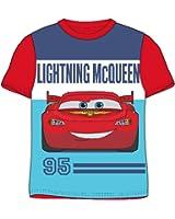 Disney Cars Lightning McQueen Boys Short / Long Sleeved T Shirt - Ages 2 - 9 Years