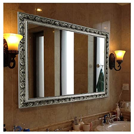 Rectangular Wall Mounted Mirror 38 x26 , Silver