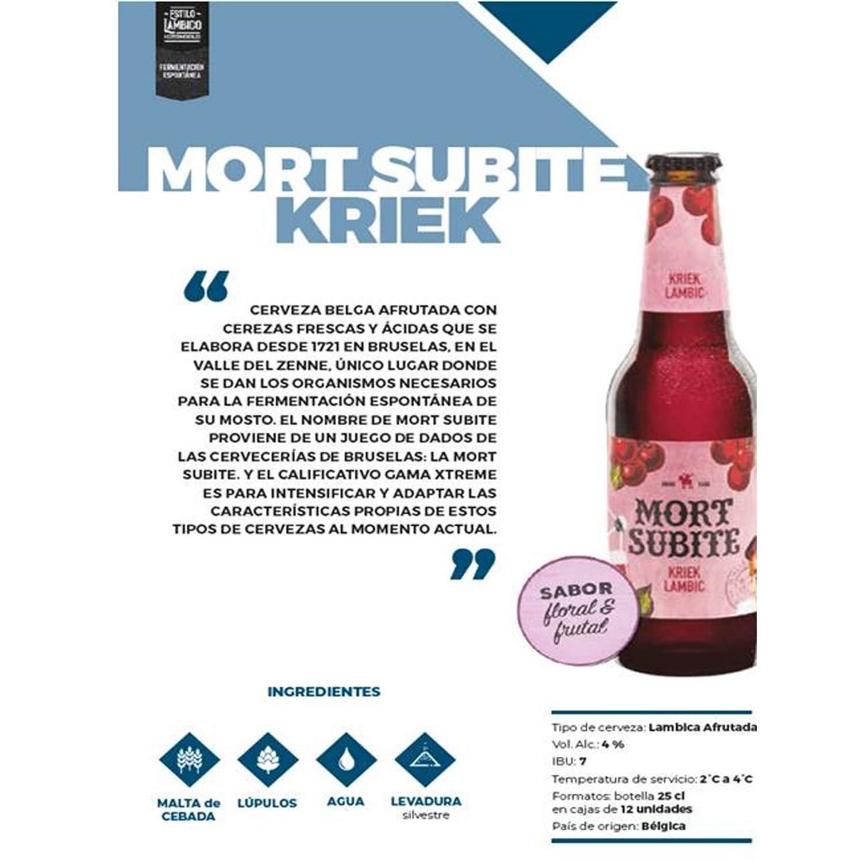 Mort Subite Cerveza Botella - 250 ml