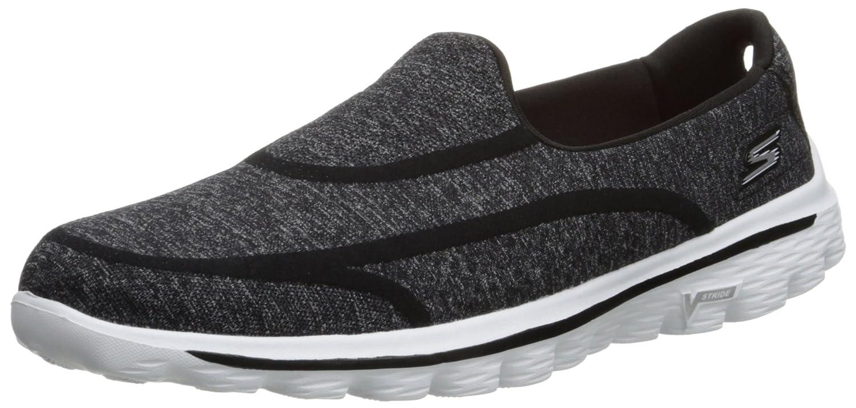 Skechers Performance Women's Go Walk 2 Super Sock 2 Slip-On Walking Shoe B00R2M1EEK 7 B(M) US|Black/White 2