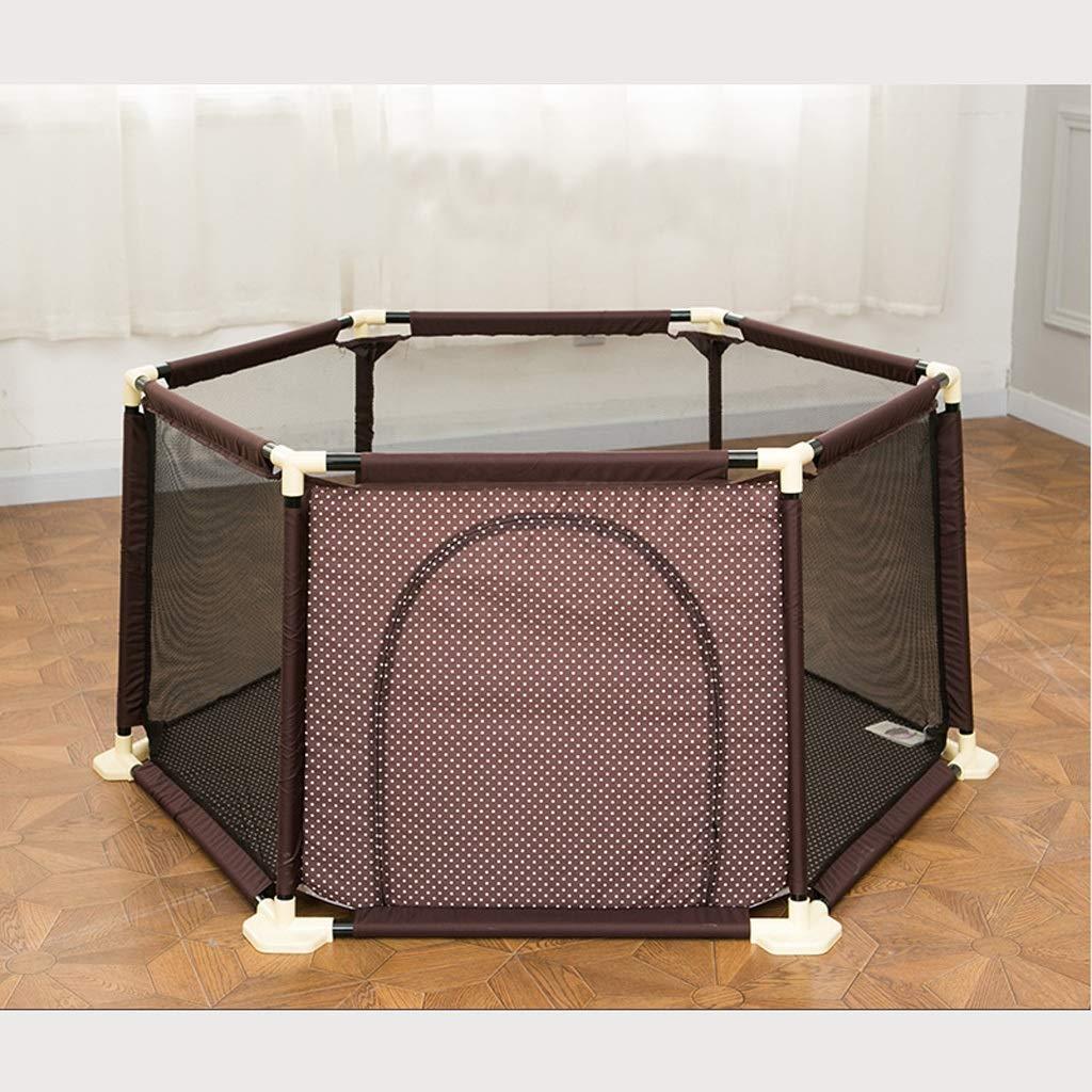 赤ちゃんの子供の遊びフェンス赤ちゃんのクロールマット幼児のフェンス屋内の遊び場の子供の安全フェンスの家 SHWSM (Color : Brown) B07TC65MPR Brown