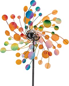 Regal Art & Gift Confetti Kinetic Wind Spinner Outdoor Garden décor 19 x 7.75 x 70 Inches