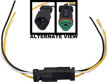 71nGcFRfegL._SX355_ amazon com apdty 133813 3 wire universal weatherproof wiring male to female wiring harness at arjmand.co