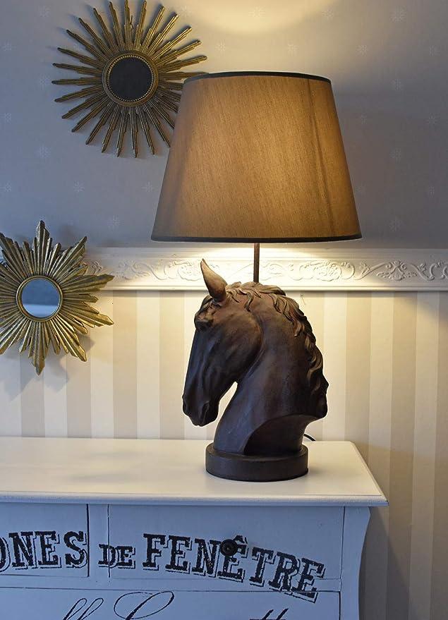 Tischlampe Pferd Lampe Tischleuchte Pferdekopf Nachttischleuchte Pferdefigur