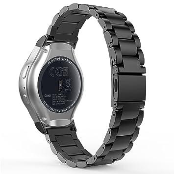 MoKo Gear S2 Correa de Reloj, Pulsera Universal Acero Inoxidable Bracelete SmartWatch Banda + Conector para Samsung Galaxy Gear S2 SM-R720 & SM-R730 ...