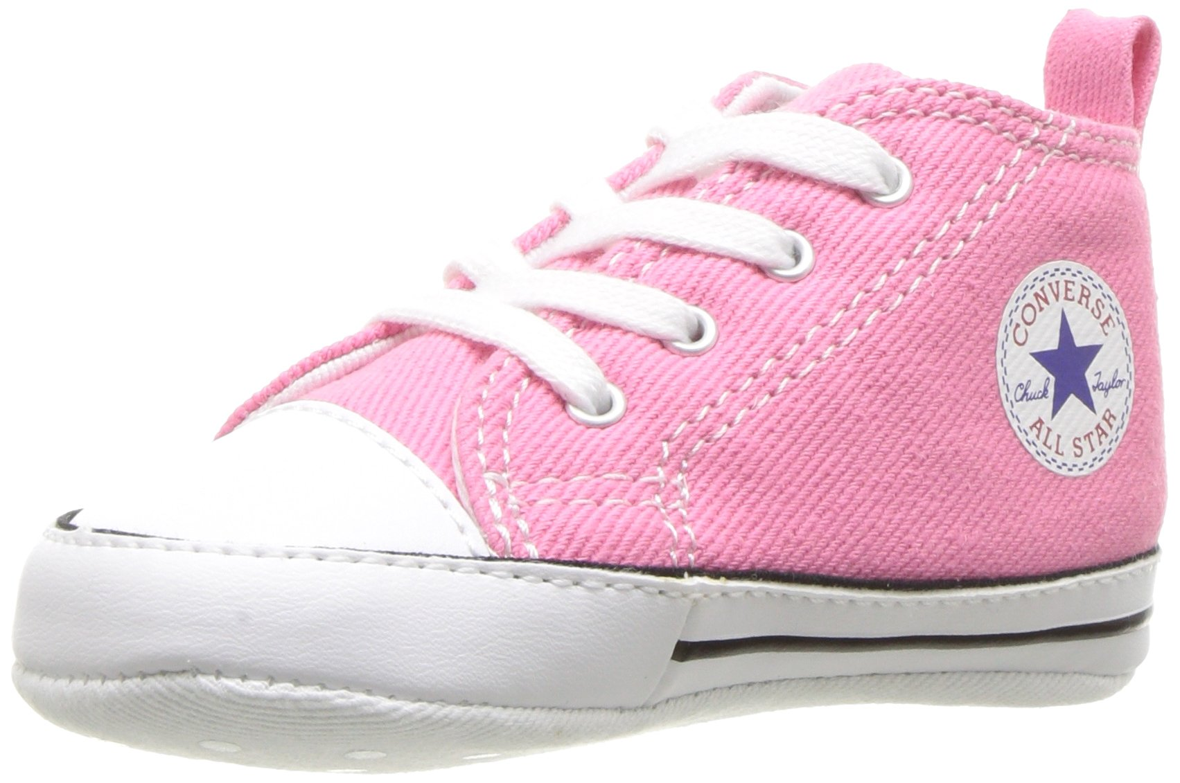 Converse Kids' First Star High Top Sneaker, Pink, 4 M US Toddler