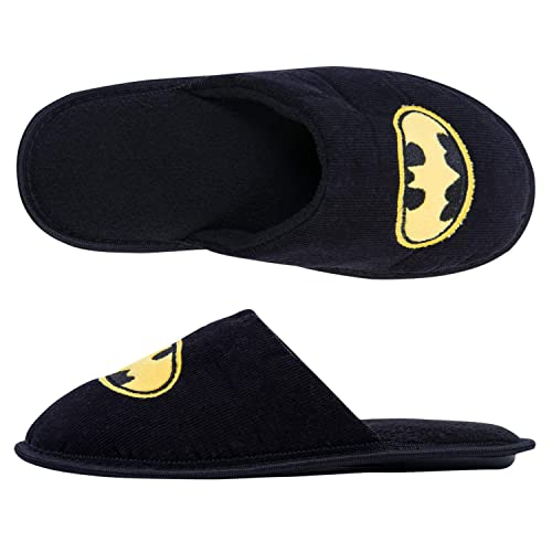 b8f6593868f9 DC Comics Batman Mens Slippers - Officially Licensed Batman Mens Slippers  (Black