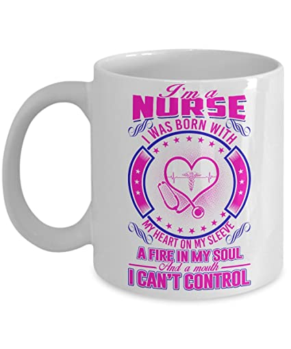 Nurse Funny Coffee Mug 11oz Ceramic White Top Birthday Gifts For Nurses