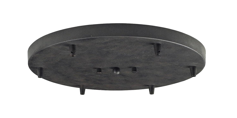 Elk 6R-DR 6-Light Round Pan in Dark Rust