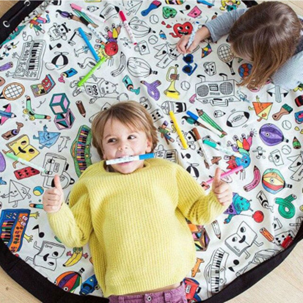meixinyuan Explosive Home Children's Toys Play Game Animals Round Crawling Mats Storage Hanging Multifunction Big Bag