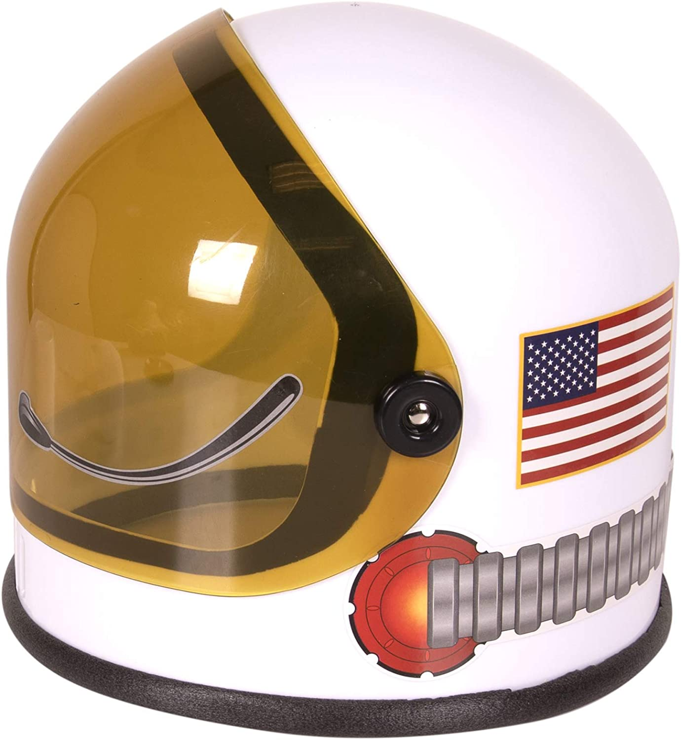 White Girls Boys Birthday Party Favor Supplies Kids and Toddler Role Play Accessory Astronaut Helmet with Movable Visor Pretend /& Play Toy for Dress Up Fun