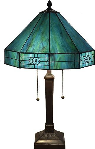 Whse of Tiffany T14M113 THRUG Maeve Tiffany-Style 2-Light Table Lamp