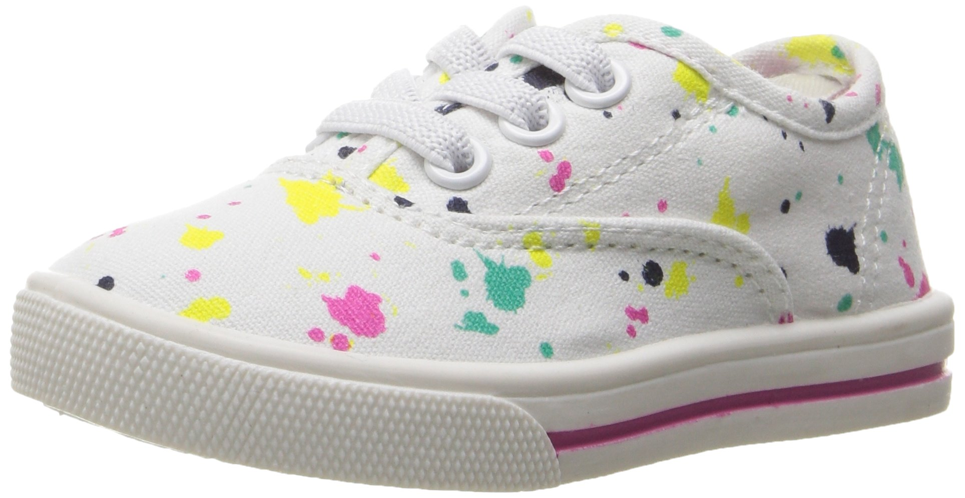 Carter's Piper Girl's Casual Sneaker, White/Print, 10 M US Toddler by Carter's (Image #1)