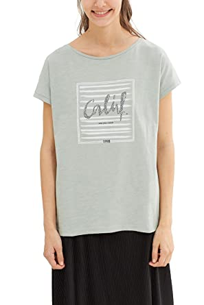 260196510d025d edc by Esprit Women's 047CC1K002 Crew Neck Short Sleeve T - Shirt - Green -  8
