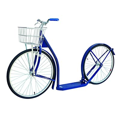 "Amish-Made Deluxe Kick Scooter Bike - 24"" Wheel (Adult Size) (Navy Blue) : Sports & Outdoors"