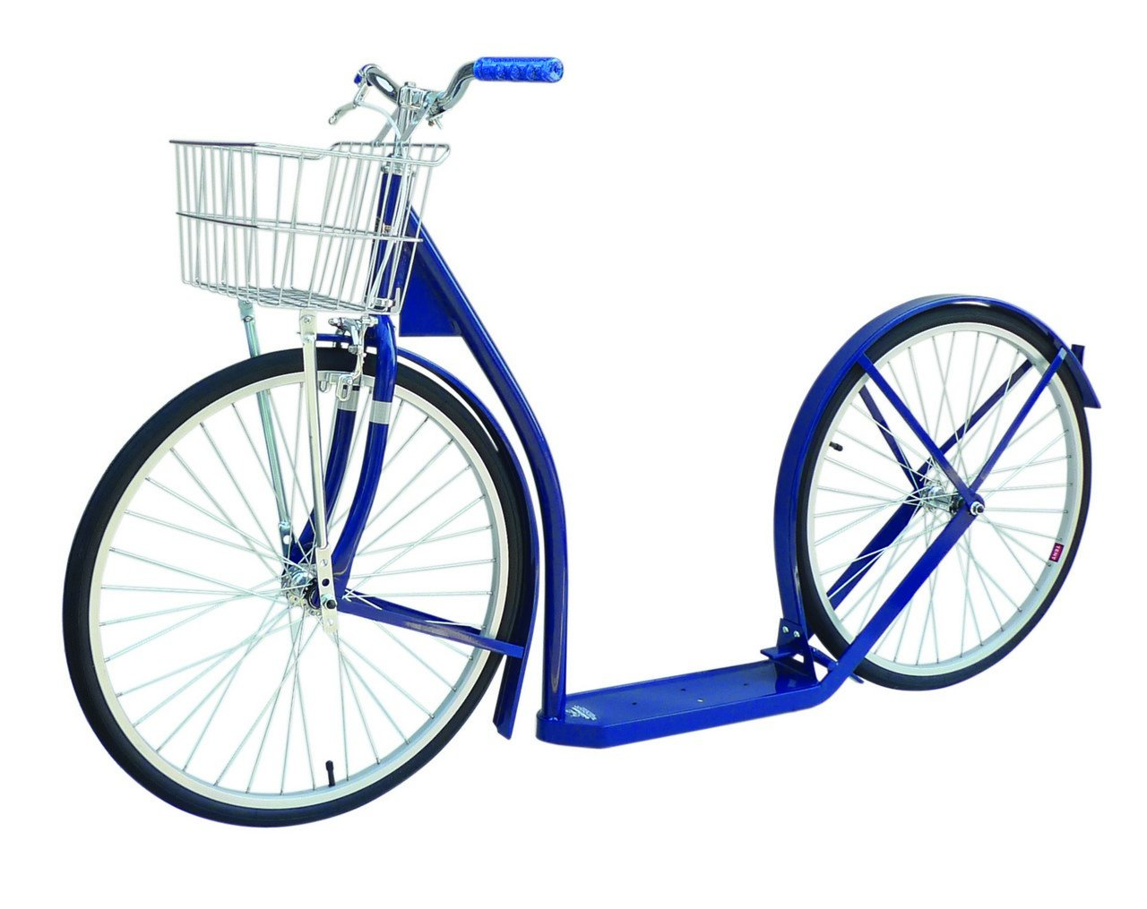 Amish-Made Deluxe Kick Scooter Bike - 24'' Wheel (Adult Size) (Navy Blue)
