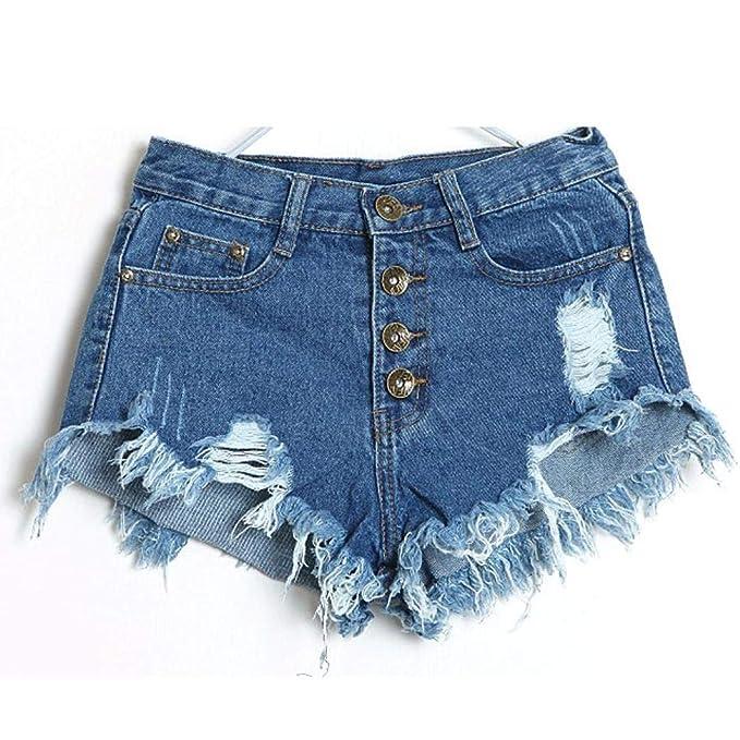 Amazon.com: Pantalones cortos de mezclilla para mujer ...