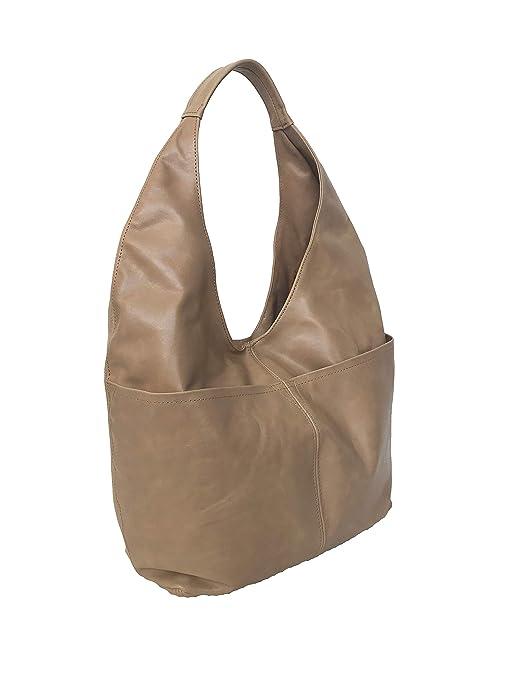 f47af78e2d2a Amazon.com  Fgalaze Large Distressed Camel Leather Hobo Bag w Pockets