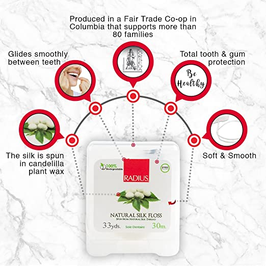 Radio Natural Biodegradable seda hilo de 33 M de árboles, juego de 3: Amazon.es: Salud y cuidado personal