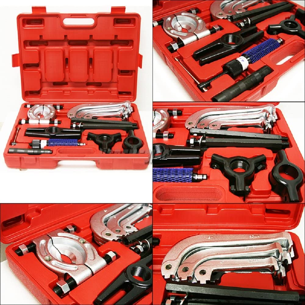 10 Ton Hydraulic Gear Puller and Bearing Jaw Separator Set Professional Kit