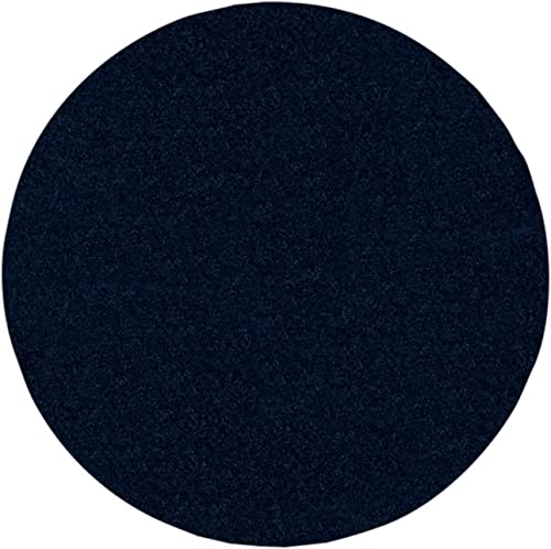 Ambiant Broadway Collection Pet Friendly Navy 12 Round – Area Rug