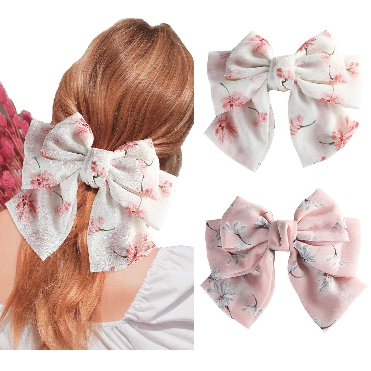 Girls Large Bowknot Hair Bow Hair Pins Clips Ribbon Hair Clip Hairband Gift