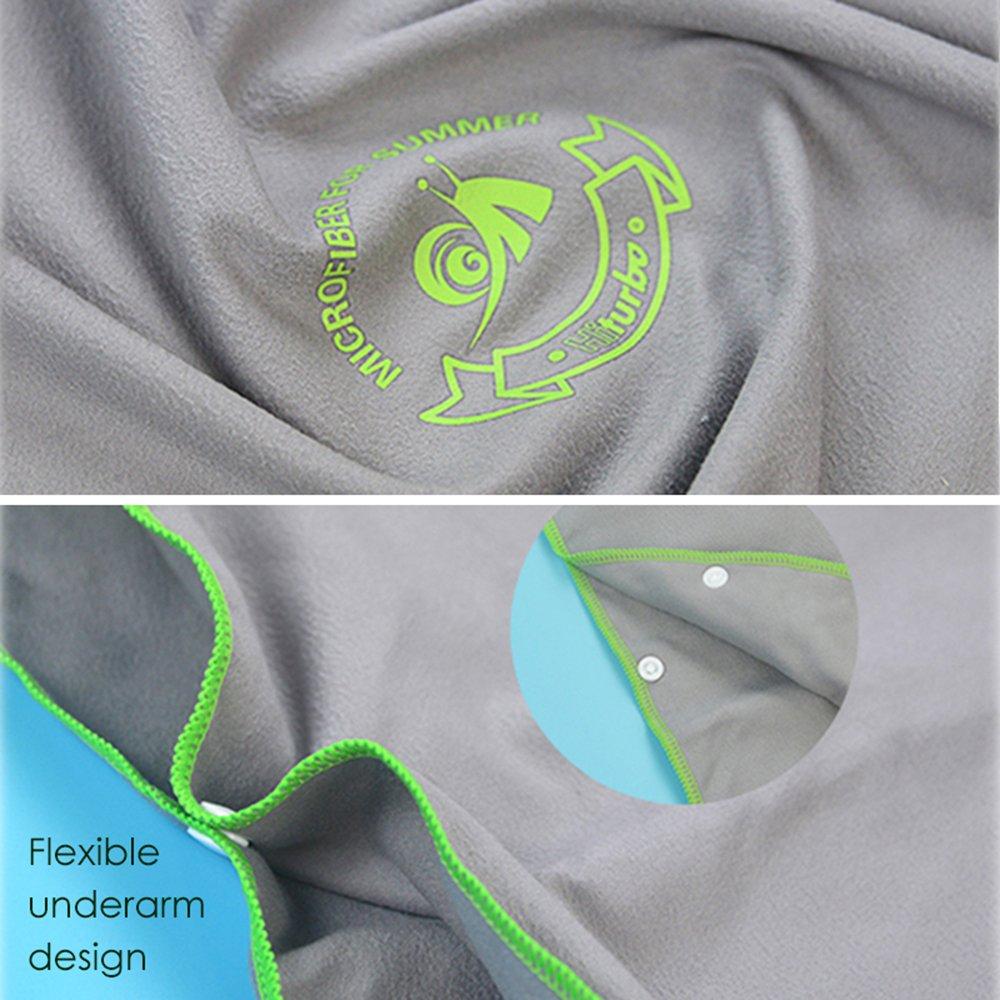 surf taglia unica Blue ideale per il surf Ele Eleoption Poncho asciugamano con cappuccio in microfibra vacanze compatto e leggero viaggi perfetto per spiaggia