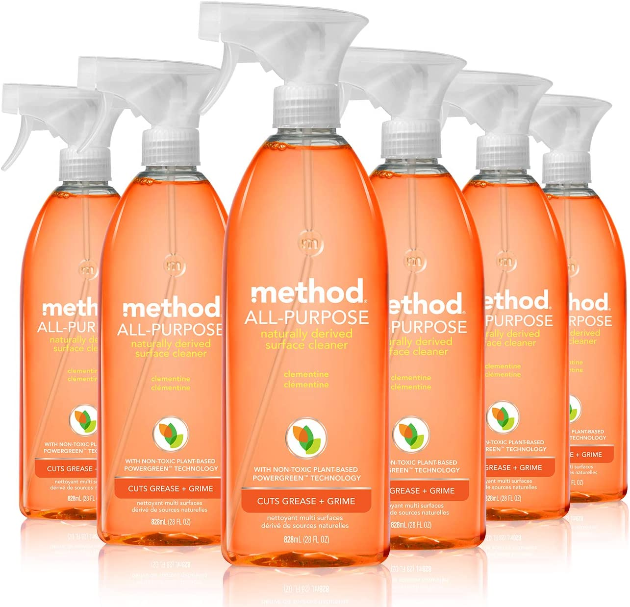 Method All Purpose Cleaner, Clementine, 28 Fl Oz, Pack of 8