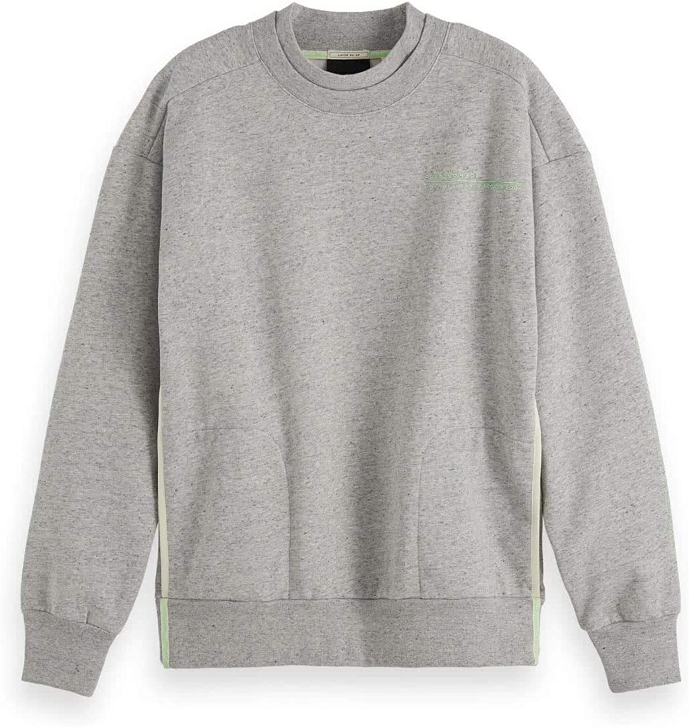 Scotch /& Soda Mens Premium Wool-Blend Shawl Sweater Grey L