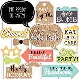 Party Propz Birthday Photo Booth Props (14 Pieces) For Birthday Props,1St Birthday Props