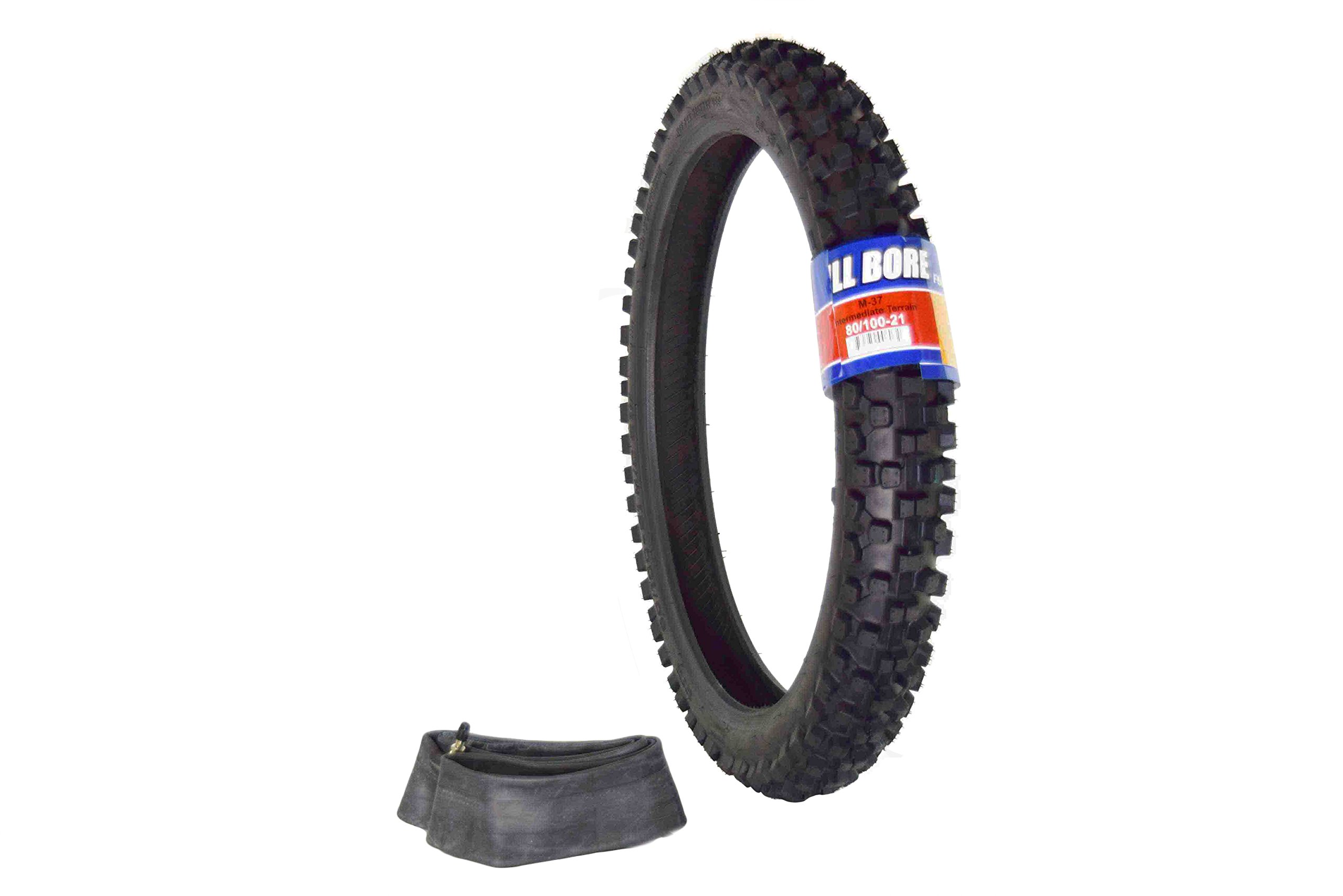 Full Bore 80/100-21 M37 Intermediate Terrain Dirt Bike Tire with TR-4 Inner Tube