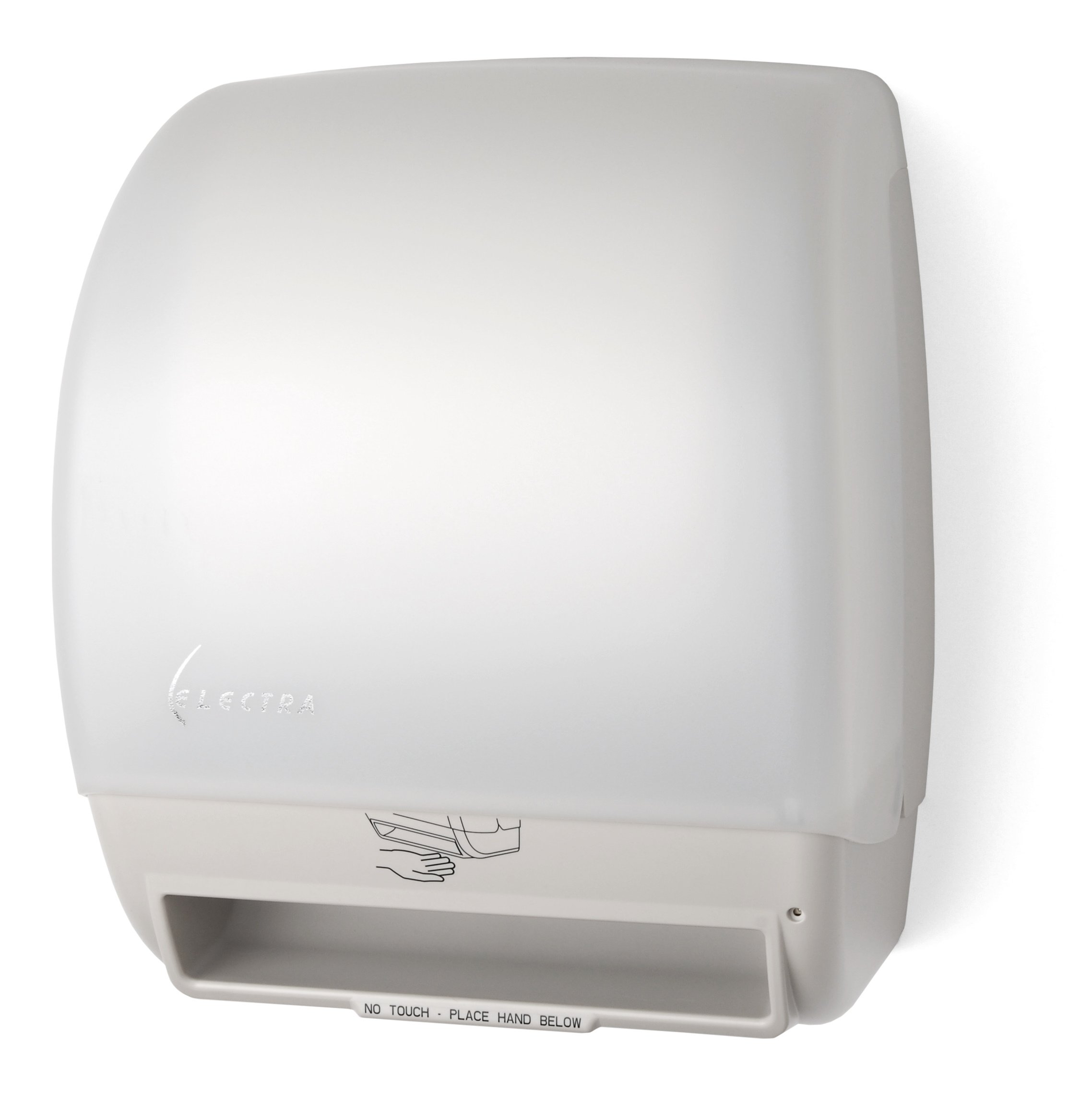 Palmer Fixture TD0245-03P Electra Touchless Roll Towel Dispenser, White Translucent