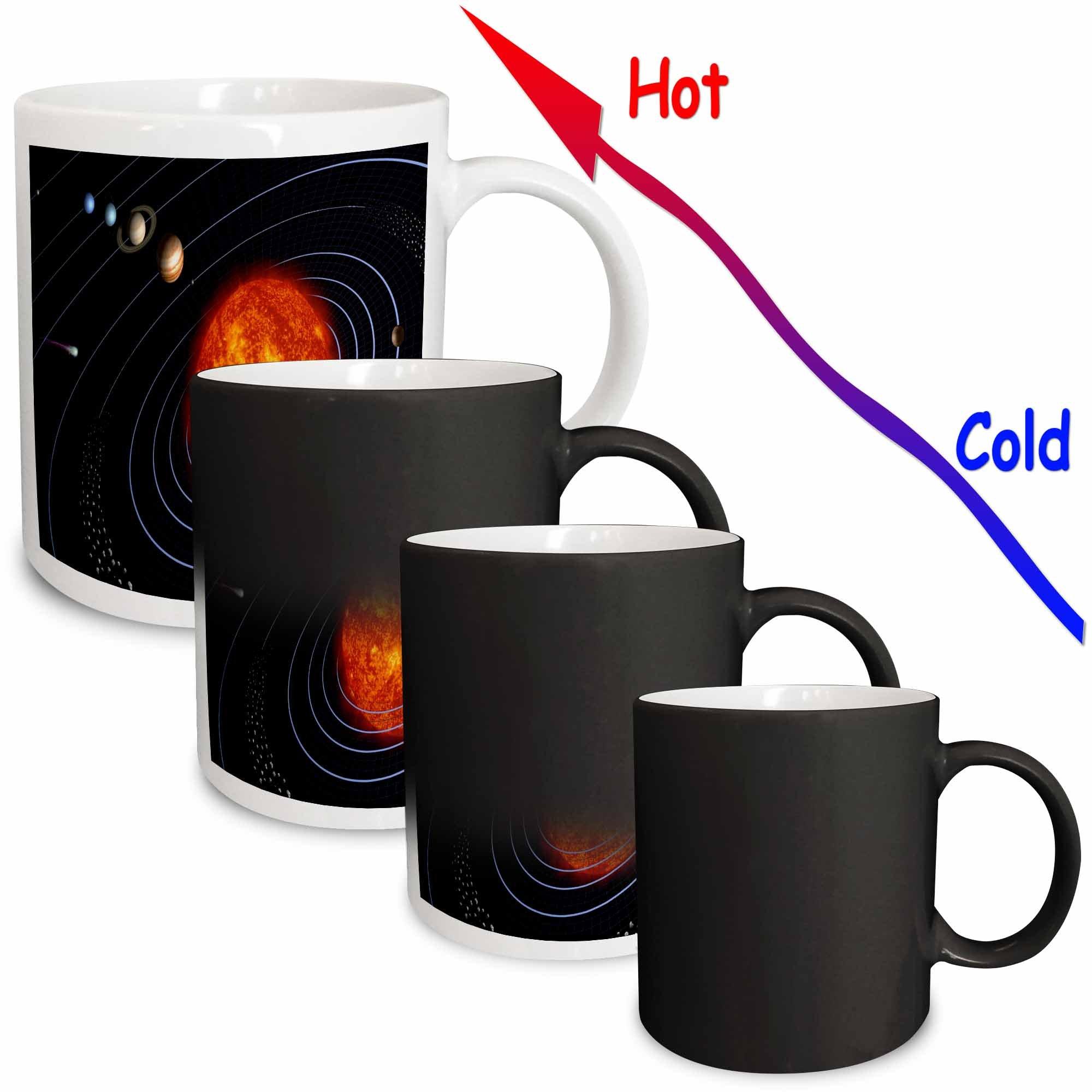 3dRose mug_80606_3 ''NASA Diagram Of Planet n Solar System'' Magic Transforming Mug, 11 oz, Multicolor