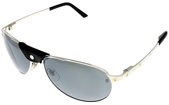 2ccfd639e9 Image Unavailable. Image not available for. Colour  Cartier Sunglasses  Edition Santos-Dumont Unisex Polarized T8200892 Aviator. Roll over image to  zoom in