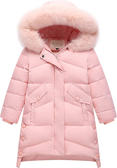 Barbie Doll Puffer Coat-Fashion Clothing Accessories-Red Down-Winter Parka w//Fur