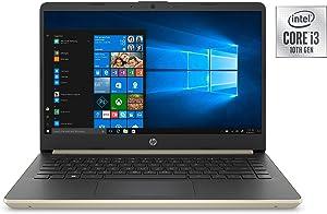 "Newest HP 14"" HD Micro-Edge Business Laptop | 10th Gen Intel Dual-Core i3-1005G1 Processor up to 3.4GHz | 16GB RAM | 512GB SSD | USB-C | HDMI | WiFi | Bluetooth | Windows 10 | Gold"