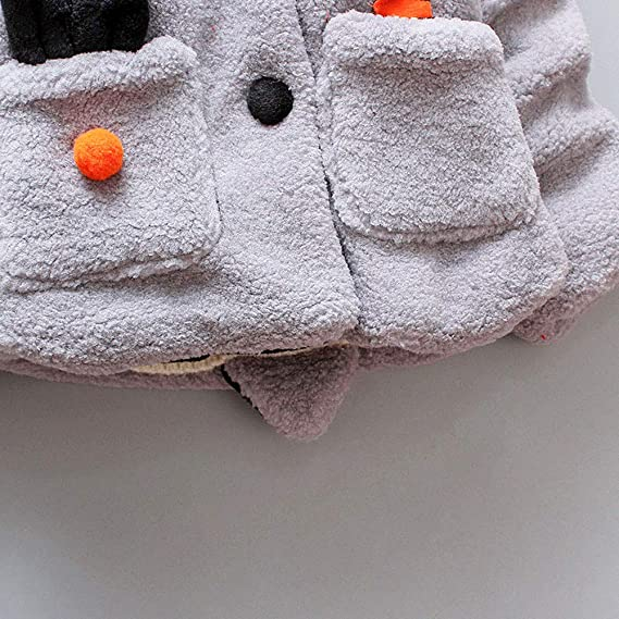 Amlaiworld Abrigo Bebe niña Chaqueta de Invierno Bebe Niña Niño cálido Abrigo de Ropa Bebe Niña Otoño Invierno Chaqueta de Cremallera Grueso Capa 18 Mes -4 ...