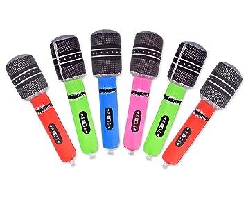 DSstyles Globo Inflable del Micrófono Fijado con 6 Pedazos ...
