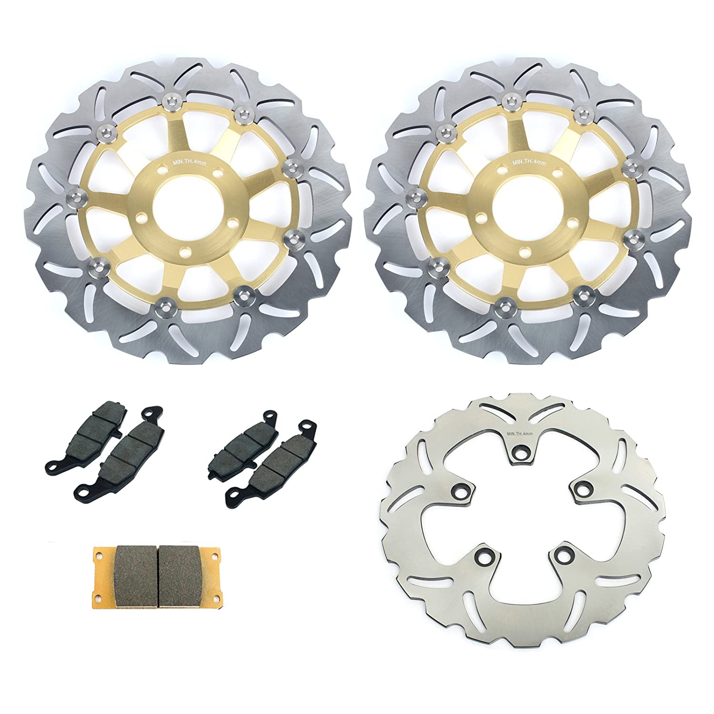 TARAZON Front Rear Brake Discs and Pads SV650S 99-02 GSF650 Bandit 00-04 GSXF750 Katana 750 98-02