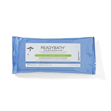 Medline ReadyBath Scented Body Cleansing Cloths, Standard Weight (Pack of 1) (Packaging