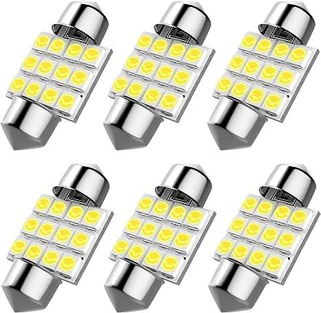 De3175 31mm Led Interior Dome Light Map Bulb Door Courtesy For Car 1 25 De3021 De3022 Festoon Bulbs 6pcs Pack