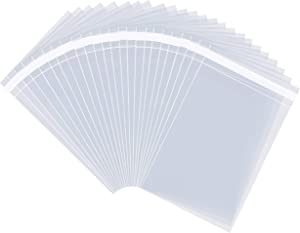 """Pack It Chic - 11"""" X 14"""" (1000 Pack) Clear Resealable Cellophane Cello Bags - Fits 11X14 Prints, Photos, Documents - Self Seal"""