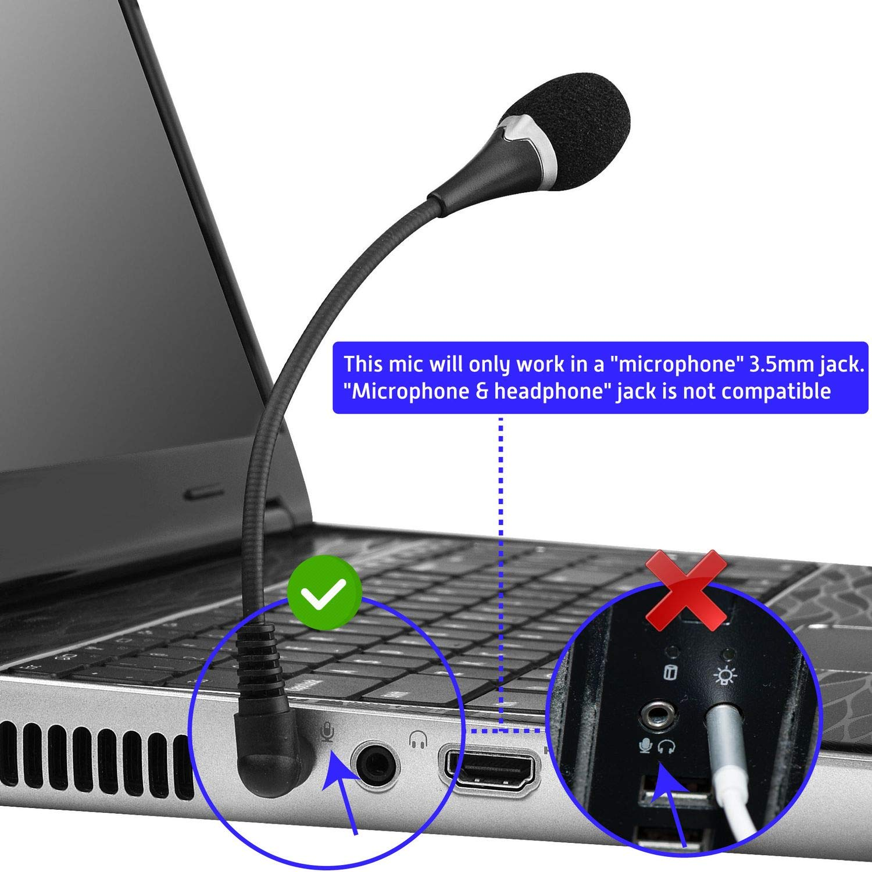 Insten Voip Skype Mini Flexible Microphone For Mac Mic Jack Wiring Black Computers Accessories